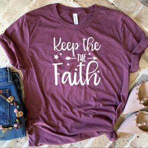 Tops - Keep the Faith graphic tee t-shirt top New!